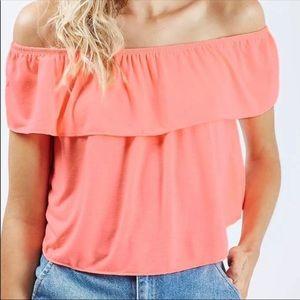 TOPSHOP off shoulder blouse